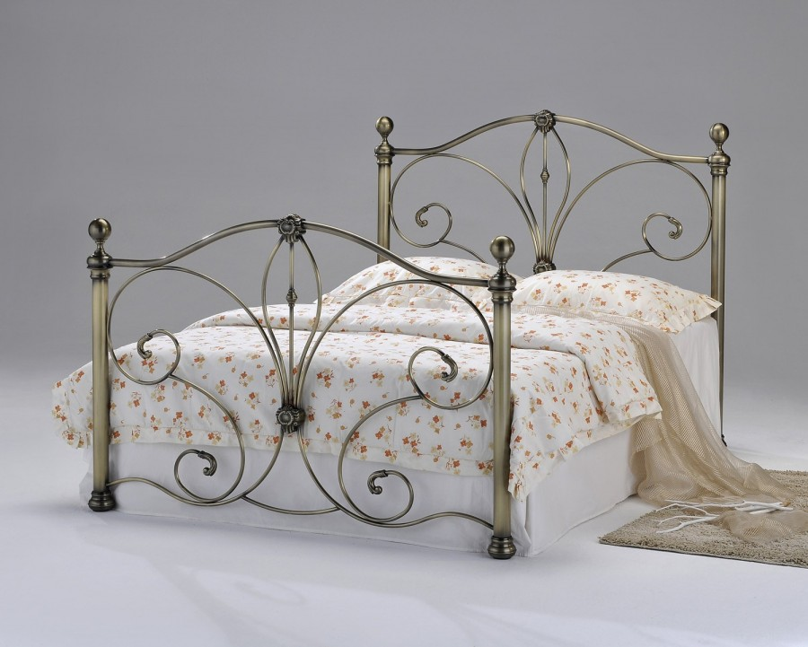 Aurora metal bed frame available from the world of beds, Askern, Doncaster, South Yorkshire