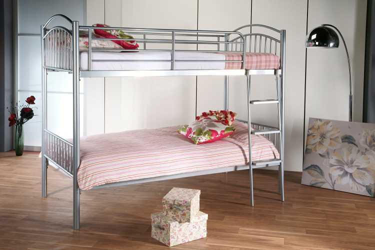 Dreamland Silver Duo Bunk available from the world of beds, doncaster