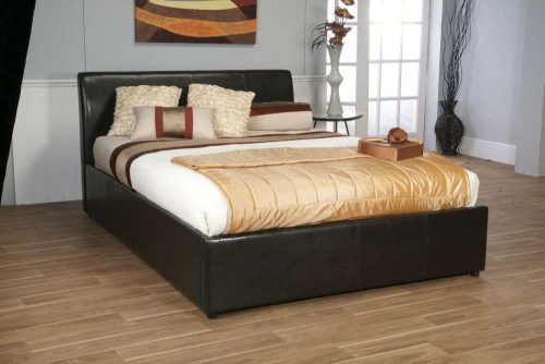 Limelight Brown Faux Leather Galaxy Storage Bed available from the world of beds, doncaster