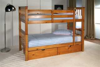 Limelight Pine Pavo Bunk available from the world of beds, doncaster