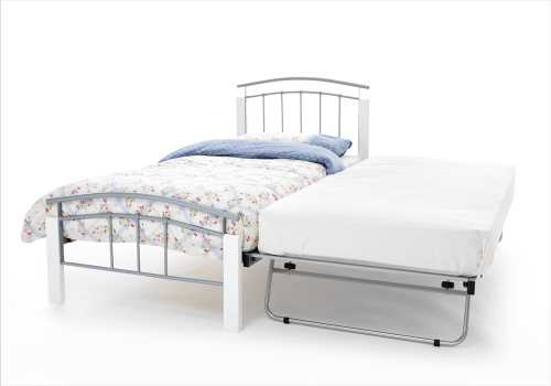 Serene Silver/White Tetras Guest Bed available from the world of beds, doncaster