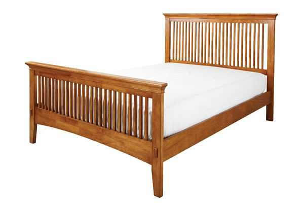 Crowther Antique Pine Buckingham Mission Bed available from the world of beds, doncaster