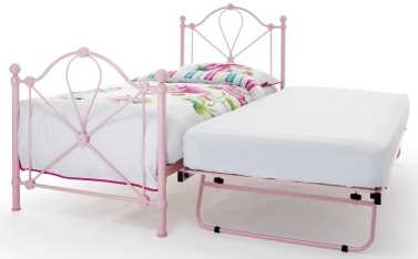 Serene Pink Gloss Lyon Guest Bed available from the world of beds, doncaster