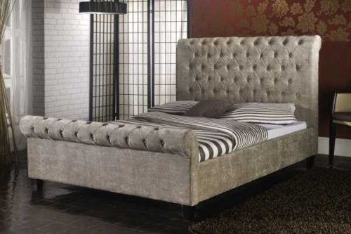 Limelight Mink Velvet Orbit Bed available from the world of beds, doncaster