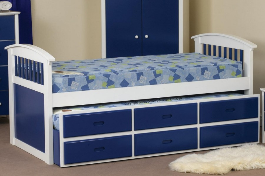 Sweet Dreams Blue/White Captain's Bed available from the world of beds, doncaster