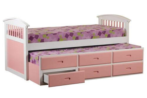 Sweet Dreams Pink/White Captain's Bed available from the world of beds, doncaster