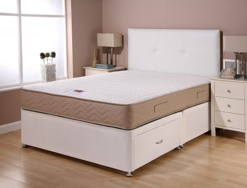 CATALINA SUPERCOIL WHITE BASE SAND MATTRESS