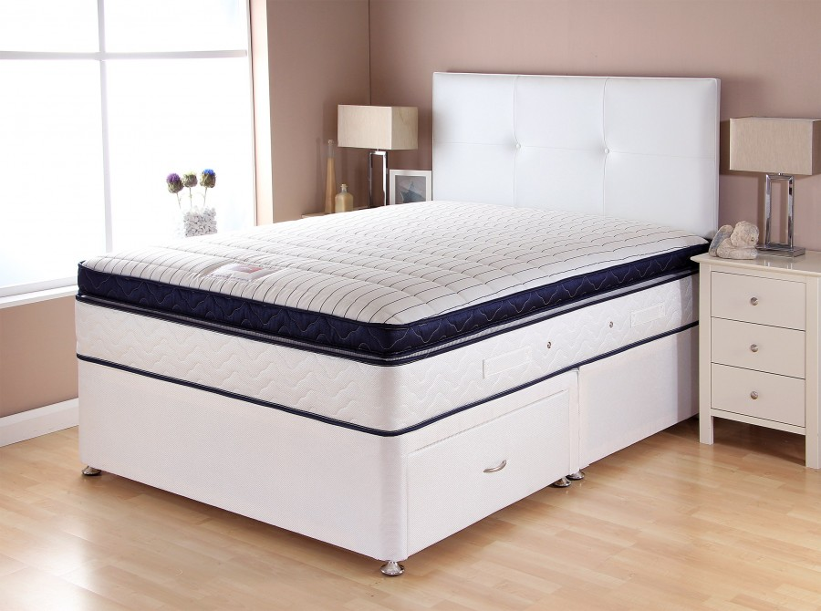 CATALINA BOXTOP WHITE BASE NAVY MATTRESS
