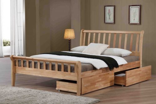 Padeswood with drawers - Oak Finish available from the world of beds, doncaster, south yorkshire
