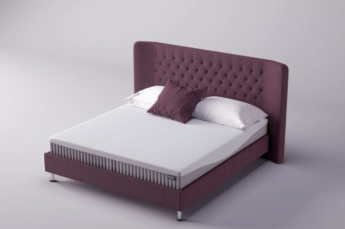 Set - Coniston Upholstered Bedstead in Plum