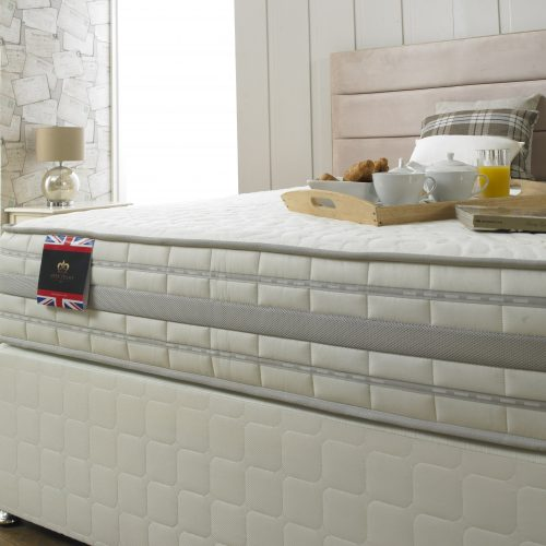 The Eliza 2000 divan bed available from the world of beds, doncaster