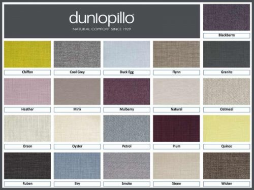 Dunlopillo Divan Bed colour options