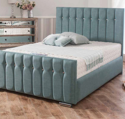 Chicago 6 Super King Size Fabric Bed The World Of Beds